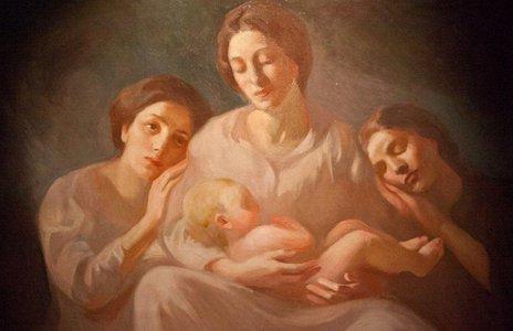 H  oικογένεια του Χαλίλ Γκιμπράν ζωγραφισμένη από τον ίδιο.