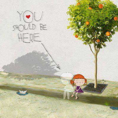 """Mακάρι να ήσουν εδώ..."" Αφιερωμένο στους αγαπημένους που μας λείπουν κάθε στιγμή... Art: Christina Tsevis"