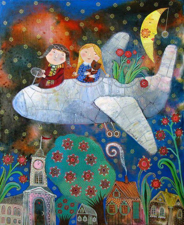H αγάπη σού δίνει φτερά...♥ Art by Anna Silivovich