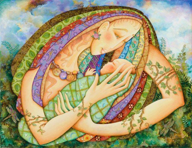 """""""Οταν χρειάζομαι ένα θαύμα, κοιτάζω το παιδί μου στα μάτια και συνειδητοποιώ πως έχω ήδη δημιουργήσει ένα"""". Art: Holly Sierra"""