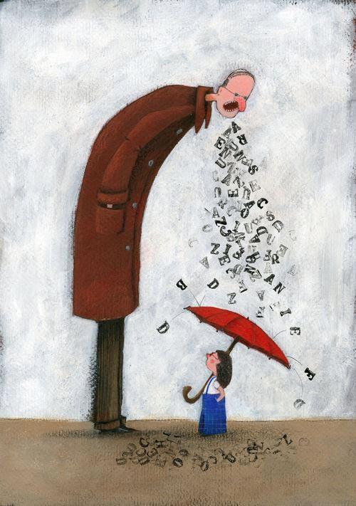 """""""Οσο περισσότερο θυμό κουβαλάς μέσα σου για το παρελθόν, τόσο πιο δύσκολο είναι να αγαπήσεις στο παρόν""""Art: Αngela Machetti"""