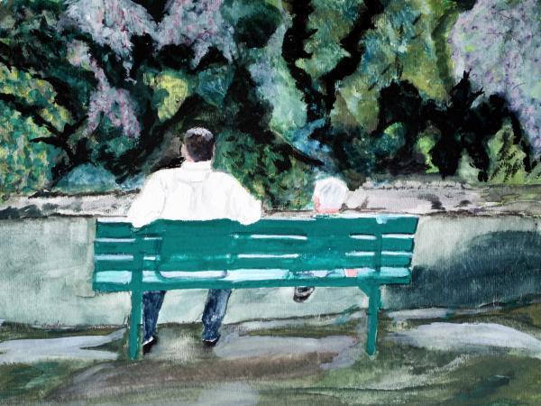 """""""Πατέρας και γιος"""" από την Cathy Jourdan."""