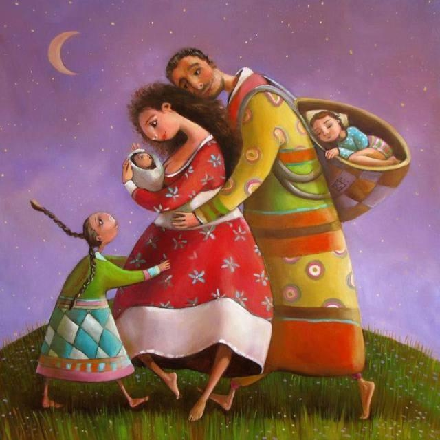 """""""Δεν υπάρχουν τέλειοι γονείς, ούτε τέλεια παιδιά. Υπάρχουν όμως πολλές οικογένειες που ζουν μέσα στην αγκαλιά της αγάπης"""" Αrt: Marianna Kalacheva"""