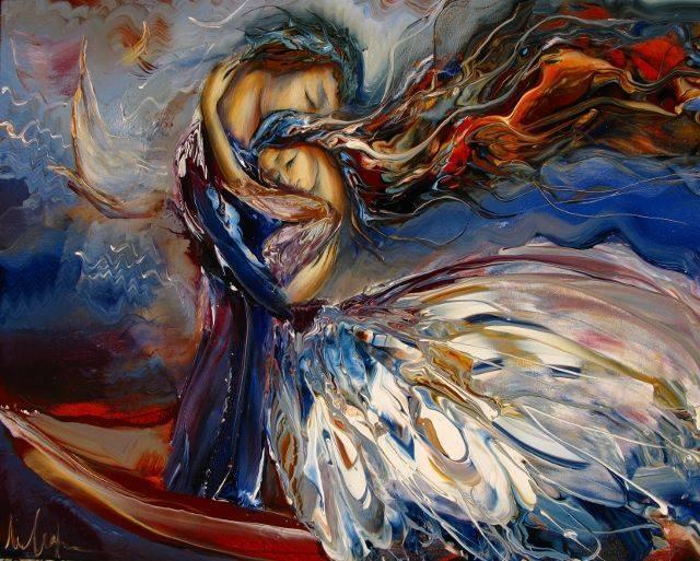 """""""Χρειαζόμαστε 4 αγκαλιές την ημέρα για να επιβιώσουμε, 8 αγκαλιές για να συντηρηθούμε και 12 αγκαλιές για να αναπτυχθούμε"""" Art: Marianna Mikhaylyan"""