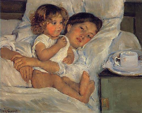 Breakfast in Bed, Mary Cassatt (1897)