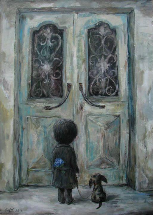 """""""Κλείσε την πόρτα στο χτες και άνοιξε το μυαλό, την καρδιά και το πνεύμα σου στις ευλογίες της τωρινής στιγμής"""" Art: Nino Chakvetadze"""